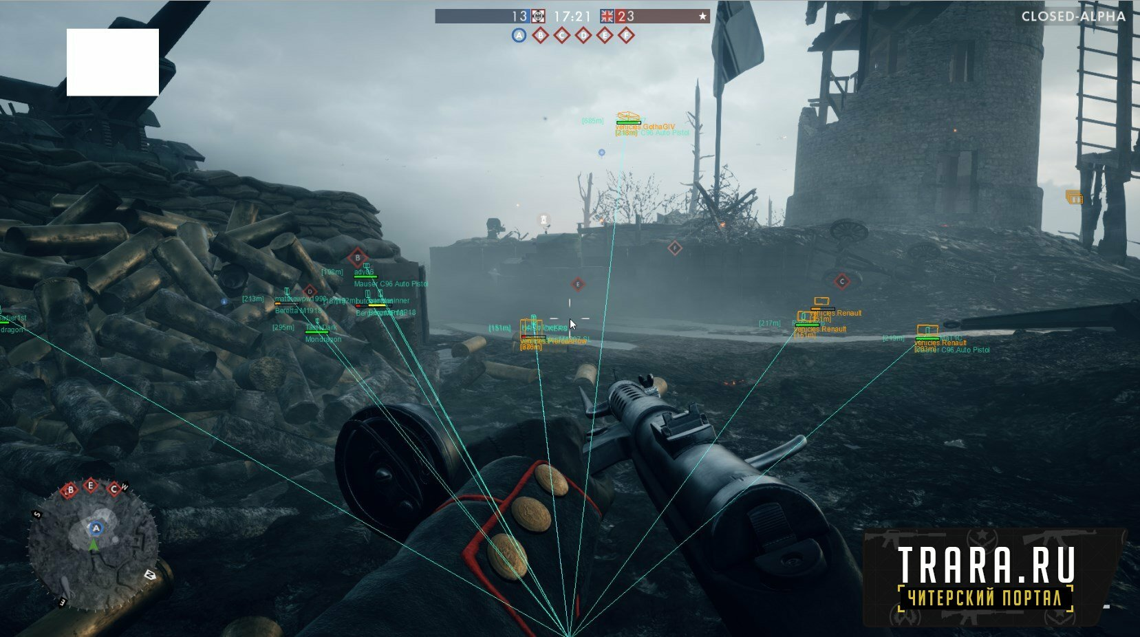 Чит для Battlefield 1 BF1 Internal Hack AIM+ESP
