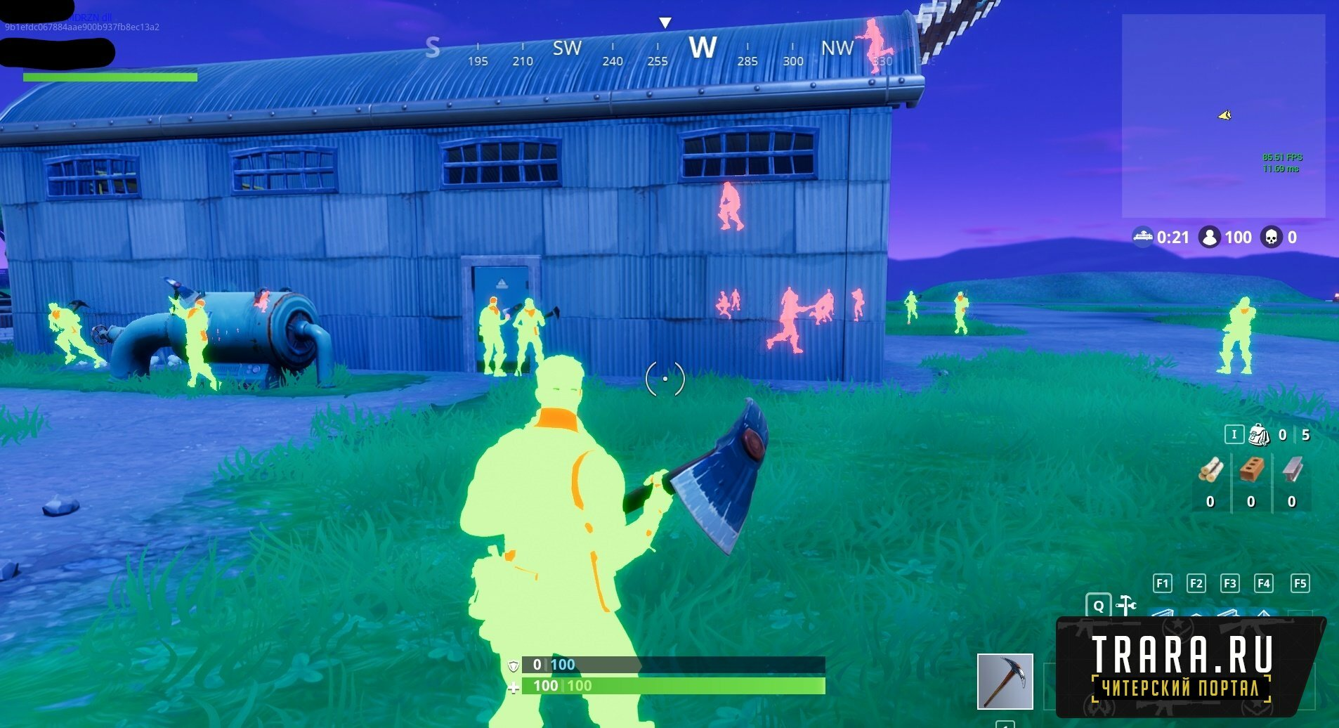 Чит для Fortnite Pasteware (AIM+WALLHACK-ESP)