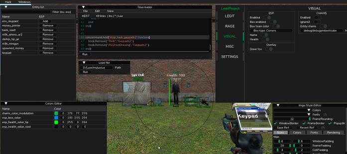 Garry's Mod Читы – LemiGMOD   RageBot, LegitBot, Visuals и другие функции